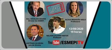 """""""O Ativismo Judicial, no Contexto da Pandemia do Novo Coronavírus"""" em live da Esmepi"""