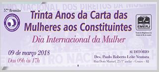 Seminário na Emerj abre o mês de março em homenagem ao Dia Internacional da Mulher