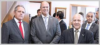 Presidente do IMB convida pessoalmente o Governador do Estado do Rio de Janeiro para a posse solene da Diretoria